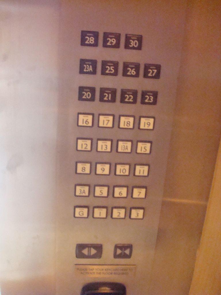 in hotel nu exista etajul 14 dar etajul 13 de doua ori