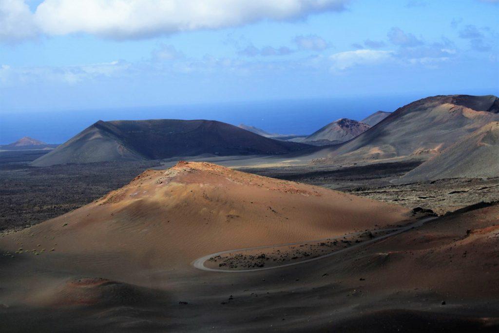Peisaj selenar pe Insula Lanzarote