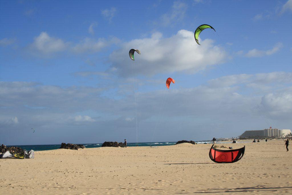 Fuerteventura kite surfing