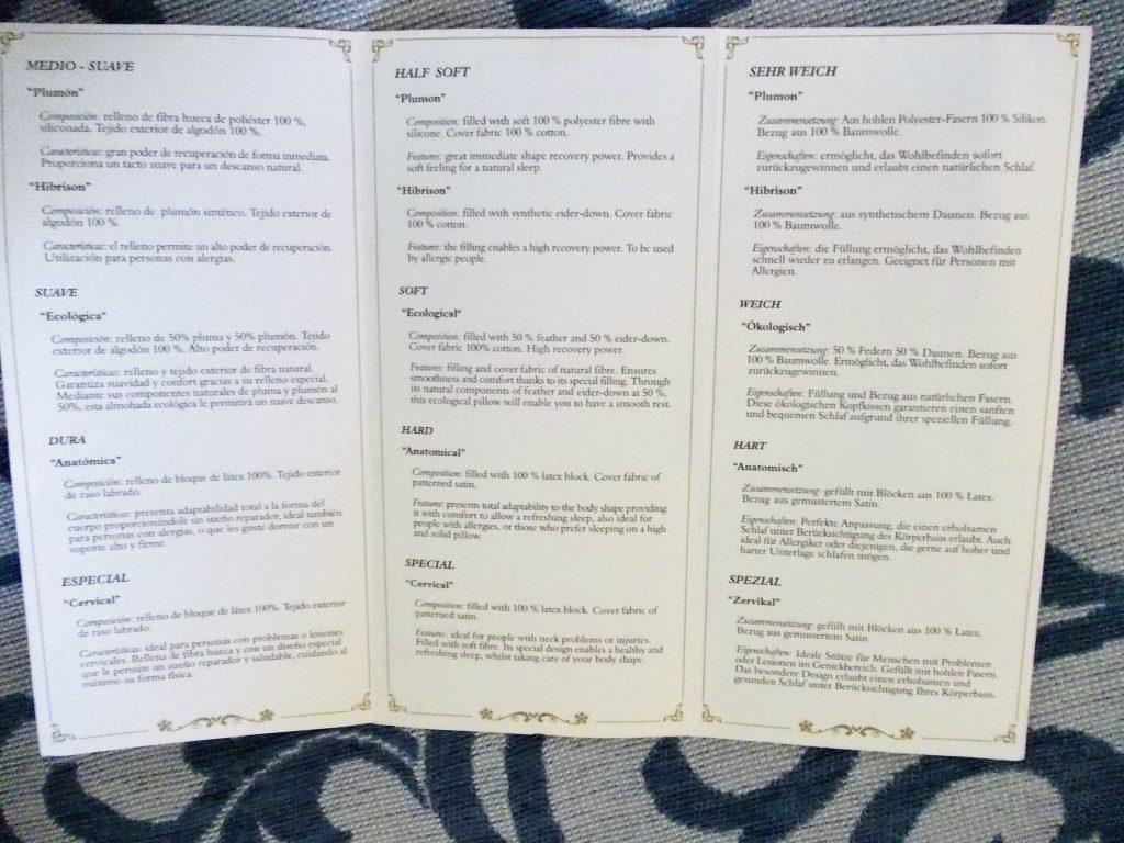 meniul de perini in Gran Hotel Atlantis bahia real