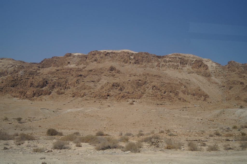 The view on the way to the Dead Sea - a desert of stone and sand