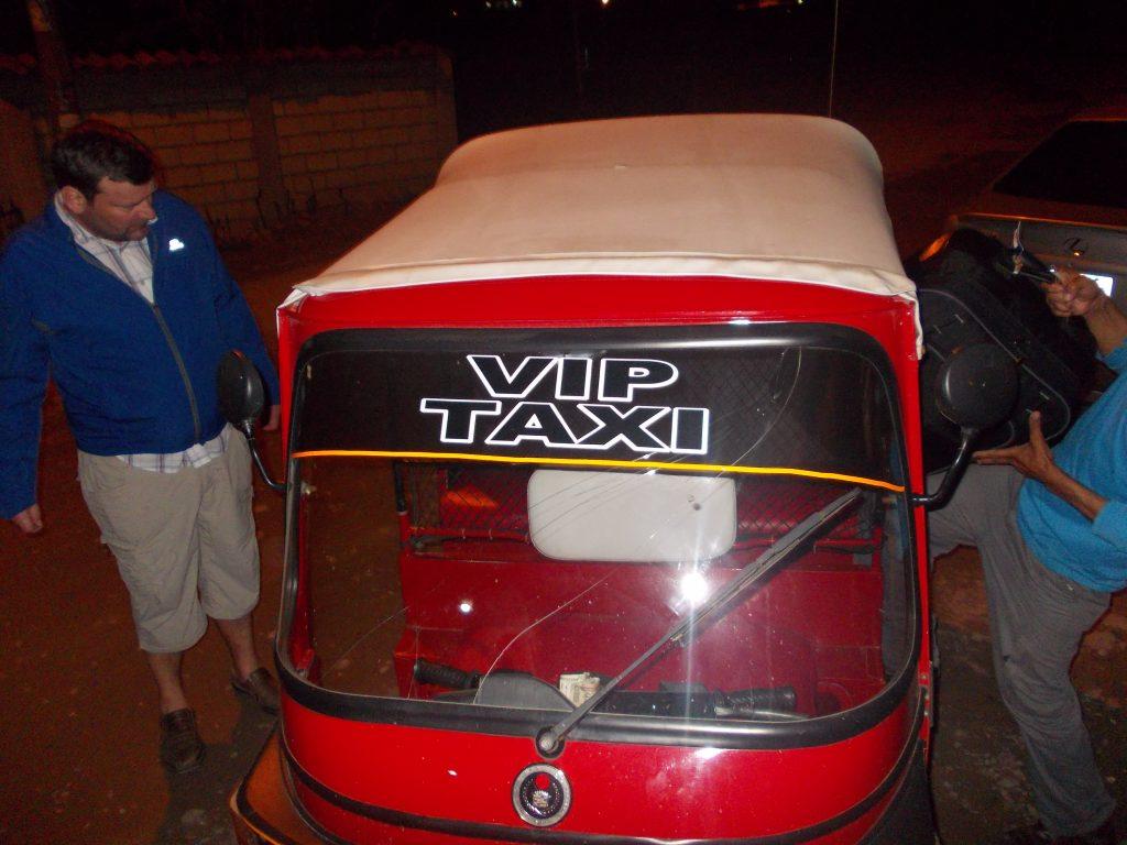 Taxiul pentru VIP's din Copan