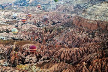 Cappadochia in zona de est a Turciei